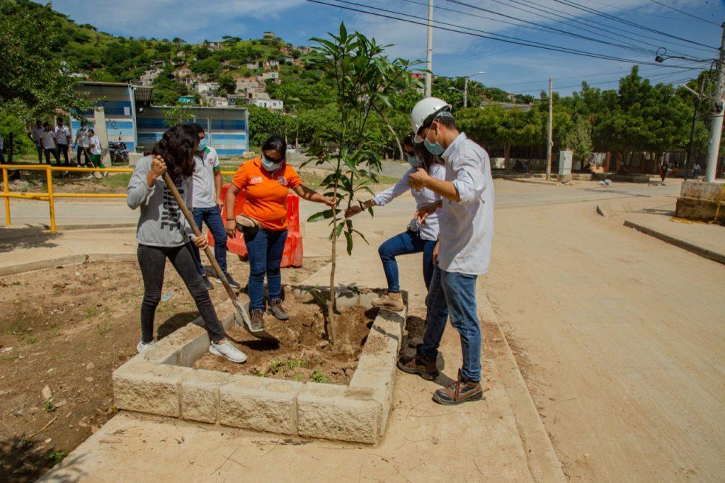 EDUS realiza siembra de árboles con estudiantes de la I.E.D de El Pando.
